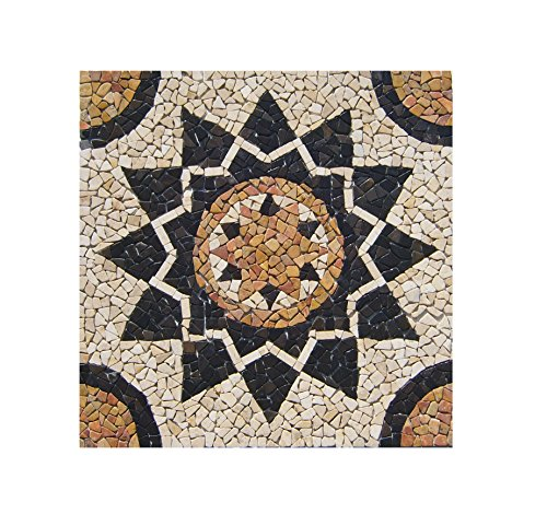 Ro Bild Von (RO-001 90 x 90 cm Marmor Rosone mediterran Einleger Mosaikfliesen Bild Dekoration Stein-Mosaik Fliesen Lager Verkauf Herne NRW)