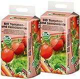BestGreen torfreduzierte Bio Tomaten- und Gemüseerde 2x25 L • Bio-Spezialerde für Bio-Gemüse wie Tomaten, Paprika, Gurken, Auberginen, Kartoffeln, Chili • 50 L