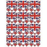SpringPear 12x Temporär Tattoo von Flagge Vereinigtes Königreichs für Internationale Wettbewerbe Olympischen Spiele Weltmeisterschaft Wasserfeste Fahnen Tätowierung Flaggenaufkleber WM Fan (12 Pcs)
