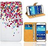 Samsung Galaxy Grand Neo Plus Funda, FoneExpert® Wallet Flip Billetera Carcasa Caso Cover Case Funda de Cuero Para Samsung Galaxy Grand Neo Plus i9060 / Galaxy Grand Neo (Pattern 1)