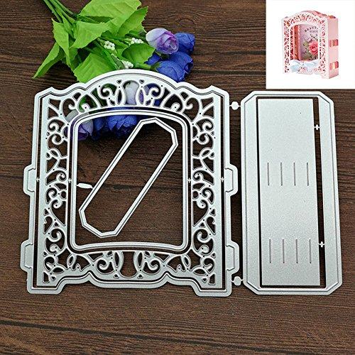 Verlike Metall DIY Formen Schablonen für Karte Machen Scrapbooking Foto Album Crafts, Karbonstahl, Door Frame, Einheitsgröße -