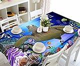 WanJiaMen'Shop Die nistenden Schildkröten kopfenden Staub Nachttischen, 3D-Tischdecken Stoff, 178 cmx 274 cm
