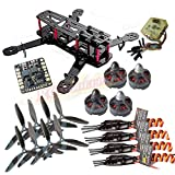 powerday®Repalcement QAV250 Carbon Quadcopter kit+Tarot MT2204? 2300KV Brushless motor+ Emax BLHeli 12A ESC+CC3D FC +6045 3-blade Props+Matek Power Hub Board