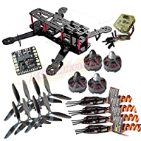 powerday®Repalcement QAV250 Carbon Quadcopter kit+Tarot MT2204? 2300KV Brushless motor+ Emax BLHeli 12A ESC+CC3D FC +6045 3-blade Props+Matek Power Hub Board from Rcmodelpart