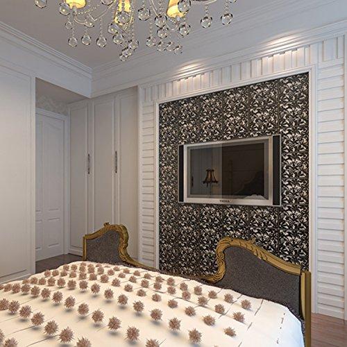 Kernorv Paravent DIY Raumteiler Sichtschutz Trennwand Wanddekorationen Hängende Wandtafel für Dekorations, Wohnzimmer, Arbeitszimmer und Sitzecke, Hotel, Bar Schwarz 12tlg - 5