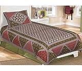shop jaipuri bedsheet with 1 pillow cove...