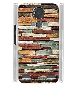 Rock Wall Pattern Soft Silicon Rubberized Back Case Cover for YU Yureka Note :: YU Yureka Note YU6000