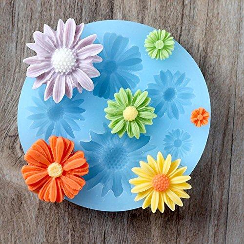 JIAJU küche braten DIY Mould Daisy Blume Silica Gel Mini Schokolade Mould - Gefrierschrank Rezepte