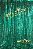 ShinyBeauty Pailletten Fotografie Hintergrund 4x 2,1Glitz Party Pailletten Foto Booth Sparkly Hochzeit Pailletten Fotografie Pailletten Vorhang, grün, 10FTx10FT