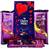 #6: Cadbury Dairy Milk Silk Special Silk Gift Pack Combo Chocolates, 674g (Fruit and Nut, Roasted Almond, Plain Silk)