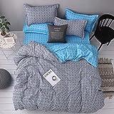 EASON Bettbezug, Heimtextilien Bettwäsche Quilt Pillowcase ist Nicht leicht zu Pilling Bettwäscheset Sherlock Cover-Steppdecke 229 * 260cm Pillowcase 50 * 91cm2