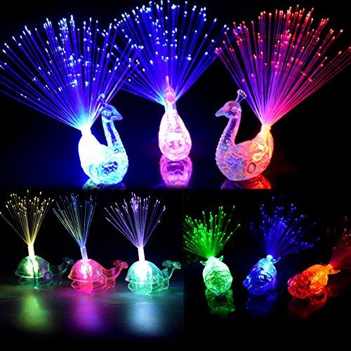 Dsaren Finger Licht, 16 Pcs Bunt Leuchten Finger Spielzeug Blinkt Party Bevorzugungs für Musikfestival, Täntze, Karneval, Halloween, Weihnachten