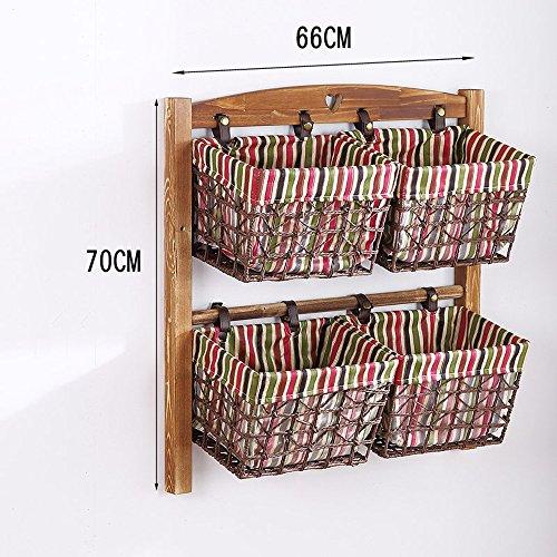 YNN En la Pared Rack de Almacenamiento Madera Maciza Creatividad Estante Dormitorio...