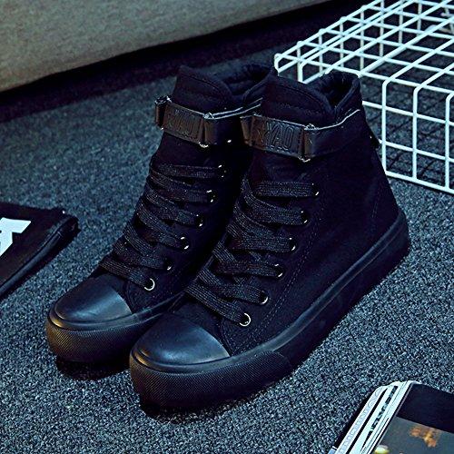 Chaussure en toile amoureux adulte mixte fille garçon basket mode Noir