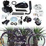 Ambienceo Motor Bicicleta Conversión Kit para Bicicleta Motorizada (80cc Negro)