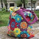 Tasche selber häkeln und stricken! Häkelset Sommertasche mit Baumwolle und