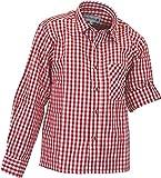 Isar-Trachten Kinderhemd Clemens mit Krempelärmel, Farben:Rot, Größen:98