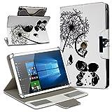 Robuste Schutzhülle für Ihr Archos Access 101 3G Tablet aus Kunstleder mit Standfunktion 360° Drehbar Hülle Schutztasche Ständer Tasche Cover Case Etui, Farbe:Motiv 9