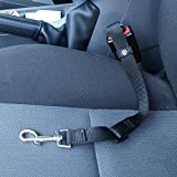 ME & MY STRONG PET/DOG CAR TRAVEL SEAT BELT CLIP LEAD RESTRAINT HARNESS IN BLACK
