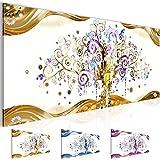 Cuadros de 100 x 40 cm - Gustav Klimt - Árbol de la vida - Cuadro en lienzo no tejido - Impresión de arte - Imagen para la pared - Más colores y tamaños en la tienda - Listo para colgar ¡100 % FABRICADOS EN ALEMANIA! 003012a