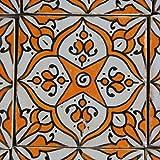 Orientalische Keramik Fliesen handbemalte marokkanische Motiv Fliese Derya 10 x 10 cm