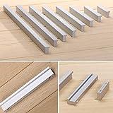 Angela-homestyle™ Aluminium meubelgreep, railinggrepen, meubelgrepen, stanggreep, keukengrepen, deurgreep, oxidatie (128 mm,