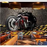 Dalxsh Papiers Peints Muraux Vintage 3D Autocollants De Moto Fond D'Écran Photo Fond D'Écran Home Bar Decor/Silk Wallpapers200X140Cm