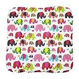 TupTam Baby Wickeltischauflage mit Baumwollbezug Gemustert, Farbe: Elefant Rosa, Größe: 70 x 70 cm