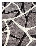 Tapiso Teppich Wohnzimmer Designer SCHÖNES Muster MELIERT IN GRAU S - XXL (130x190 cm)