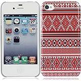 für iPhone 4 4G 4S rot ethischen ethnisch Streifen Stil hülle schale abdeckung case cover housing