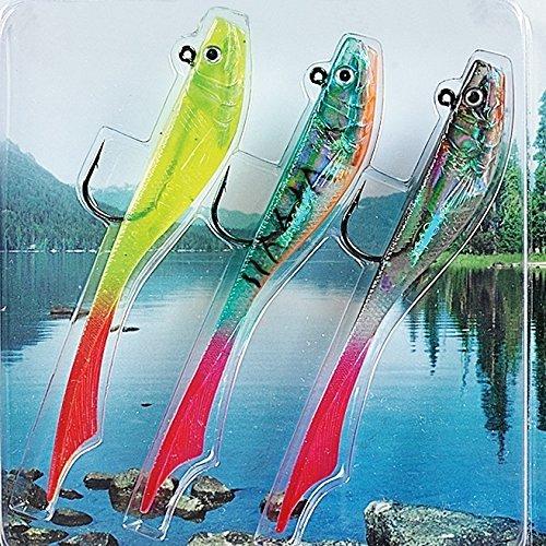 Fladen 3x Conrad souple Qualité Imitation poisson appât leurre pour pêche–15g–prédateurs pour le brochet, la perche et Sandre [16–7522]