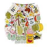 FaCraft - Libro de recortes (cartón troquelado), diseño de Ephemera 50,Tropical Plants