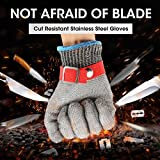 Schnittschutzhandschuhe, GOCHANGE Lebensmittelecht Schnittfeste Handschuhe, Sicherheit aus Edelstahl Metallgewebe Handschuh - 7