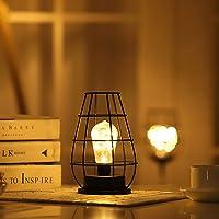 Kaishengyuan Vintage Stile Lampada Da Tavolo A LED Lampada Da Tavolo Batteria Senza Fili In Ferro Elegante Luce Da…