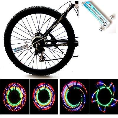 cdycam 32Mustern 16LED Fahrrad Speichen Lampen Wasserdicht Bunte Fahrrad Rad Licht Fahrrad Speichen Licht