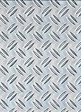 GAH-Alberts 466718 Strukturblech, Riffel-Prägung - Aluminium, natur, 300 x 1000 x 1,5 mm