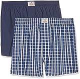 TOM TAILOR Underwear Herren Boxershorts Web-Shorts 2er Pack, 2er Pack, Blau (Blue-medium-Check 624), Large (Herstellergröße:L/6)