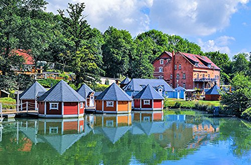 Geschenkgutschein: 2 Nächte im schwimmenden Hüttendorf für 2