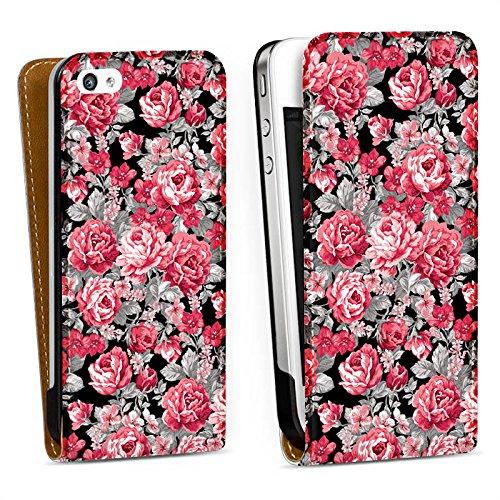 Handy Design Tasche Hülle Case Verona iPhone 4/4S - DesignTasche Downflip white - Apple Verona Flip Case
