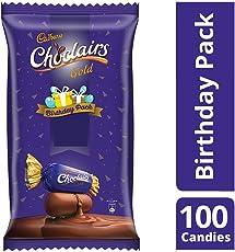 Cadbury Choclairs Gold Birthday Pack, 655.5g (Pack of 115 Pieces)