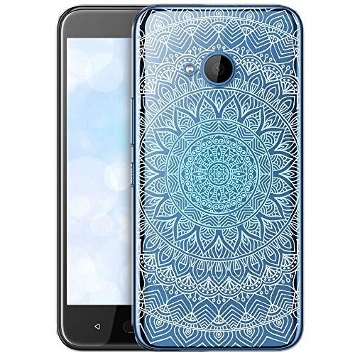 OOH!COLOR Schutzhülle Kompatibel mit HTC U11 Life Hülle Silikon Case Handy Tasche transparent Bumper mit Coolen Aufdruck Motiv Menthol Mandala (EINWEG)