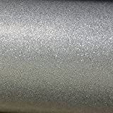 Luxe Glitter Sparkle Tapete Silber- Windsor Wallcoverings WWC012