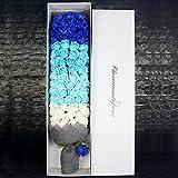 Gaoxu Regalo 99 aceite esencial de rosa, flor del jabón, caja de regalo, caja de regalo del día de San Valentín,Azul 1