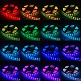 THG Flexible 16.4 ft Waterproof Switchback RGB Mixed Colors 150 SMD 5050 LED Strip Lights + IR Remote Control Receiver With 2A Power Adapter Supply