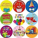 Fancy Land Alles Gute zum Geburtstag-Aufkleber Schule Belohnung eine Rolle 200Pcs Party Supplies für Kinder