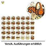 cute-head 24 Adventskalender-Zahlen + 11 Motive   Selbstklebend   DJ Discjockey Musik Kopfhörer   Rund   S » Ø 24 mm   FA0108-01
