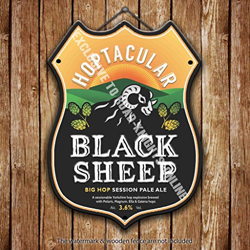 schwarz-schaf-hoptacular-bier-werbung-bar-old-pub-drink-pumpe-badge-brauerei-cask-keg-zugluftstopper