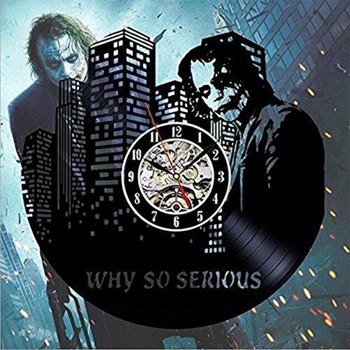 OOFAY Clock@ Wanduhr Vinyl Schallplattenuhr Ernst Ausdruck Thema Kreativität Design-Uhr Wand-Deko Familien Zimmer Schwarz Durchmesser - Karikatur-wand-uhr