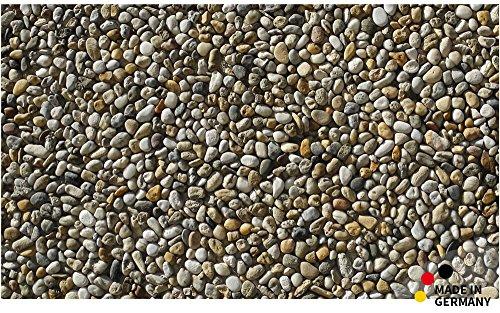matches21 Fußmatte Fußabstreifer schmutzabsorbierend Schmutzfangmatte Steine Kieselsteine Steinoptik 110x65 cm waschbar