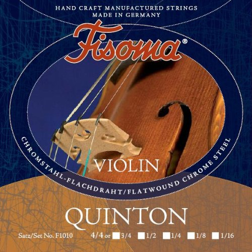 FISOMA Quinton Saiten für Violine 4/4 Satz -- die anspruchsvolle Schülersaite, mit prachtvollem, reinen Ton bei leichter Ansprache - Made in Germany